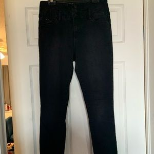 Black high waisted jeans no rips